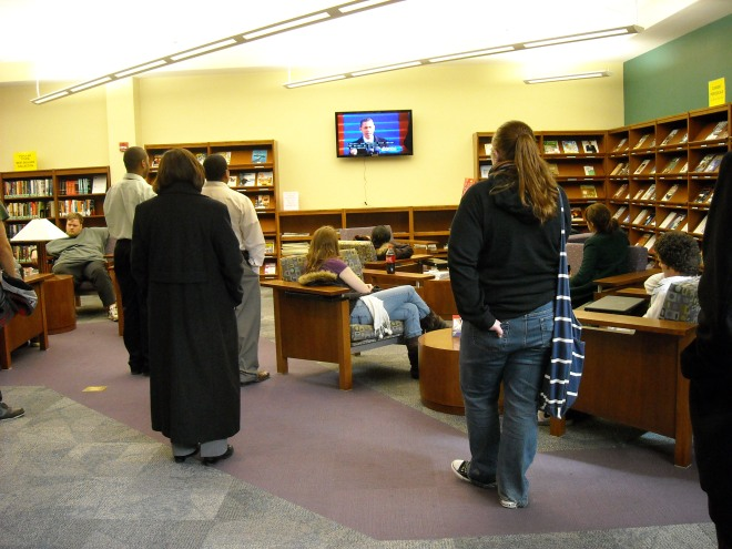 Obama inauguration at the PRC Library