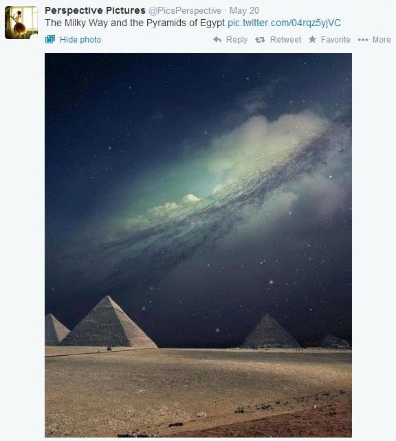 pyramid milky way