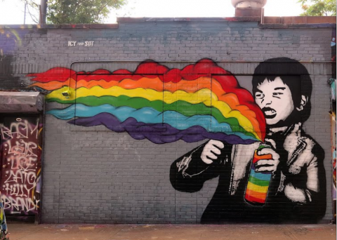 Icy and Sot mural archived in the Google Street Art Project. Image via Business Insider.